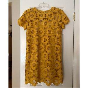 Loft Petite Sunflower Lace Dress